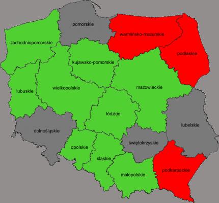 Mapa województw