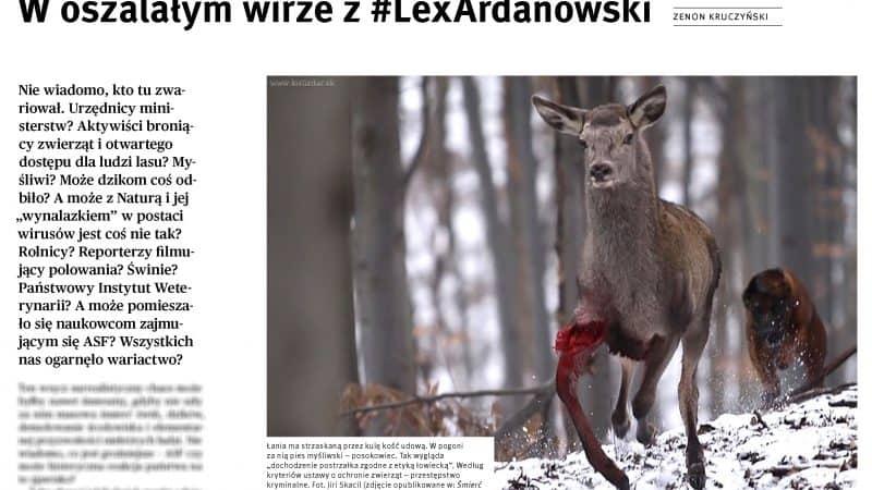 Dzikie Życie Lex Ardanowski